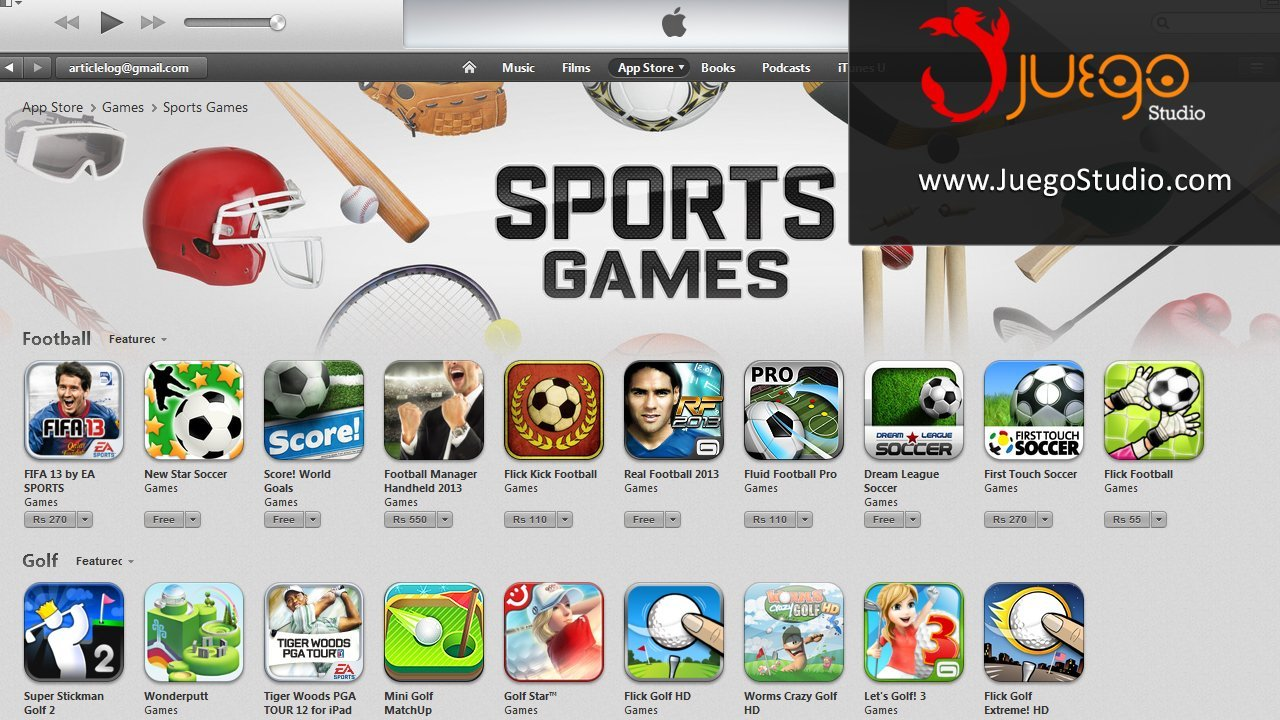 Sports Games - Juego Studio